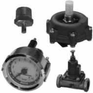 Пневматические тормозные системы Клапаны сброса конденсата, манометры